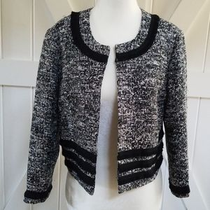 Karl Lagerfeld Black and White Cropped Jacket